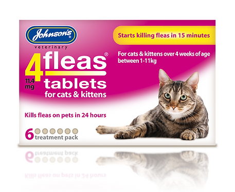 Johnson's 4fleas Tablets for Cats & Kittens