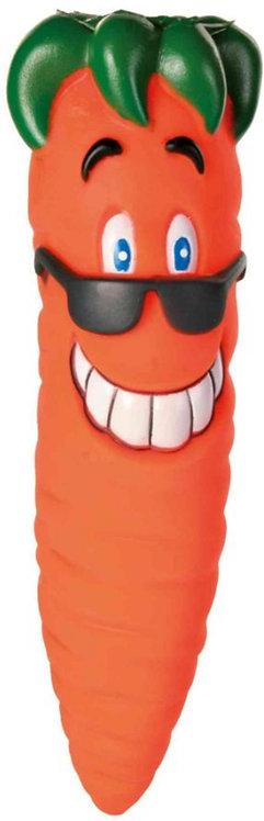 Trixie Vinyl Carrot Dog Toy