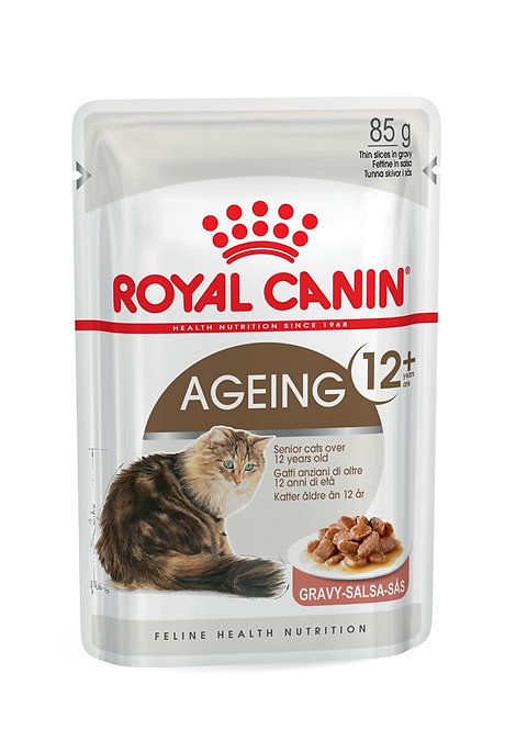 Royal Canin Aging 12+ in Gravy Wet Pouch Cat Food