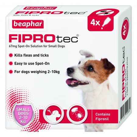Beaphar FIPROtec® Flea Spot on Solution for Small Dogs 4 Treatments