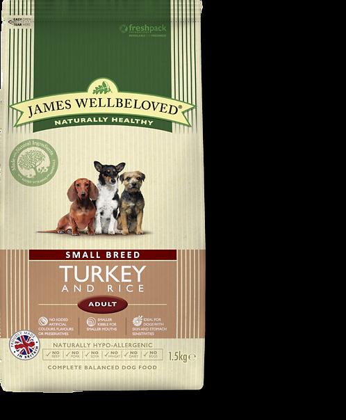 James Wellbeloved Small Breed Turkey & Rice 1.5kg