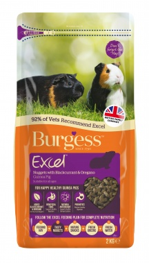 Burgess Excel Adult Guinea Pig Nuggets with Blackcurrant & Oregano 2kg