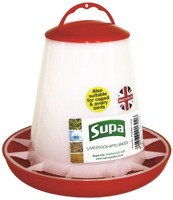 Supa Red & White Poultry Feeder 1kg