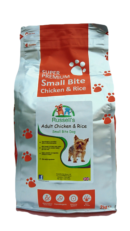Russell's Small Bite Adult Chicken & Rice Super Premium Dog food