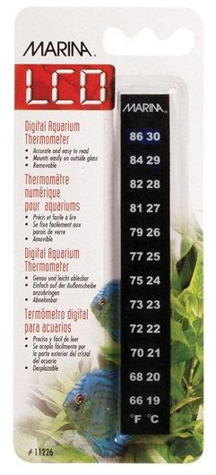 Marina LCD Aquarium Thermometer, 19 to 30° C (66 to 88° F)