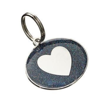 Heart Styled Oval Pet Tag