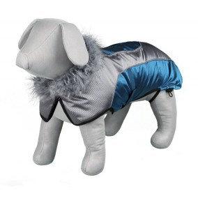 "Trixie 18"" Blue & Silver Dog Coat"
