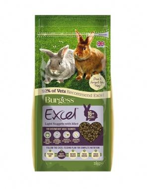 Burgess Excel Light Rabbit Nuggets with Mint 2kg