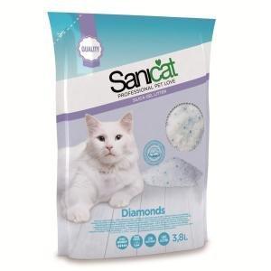 Sanicat Diamonds Silica Gel Cat Litter 3.8Ltr