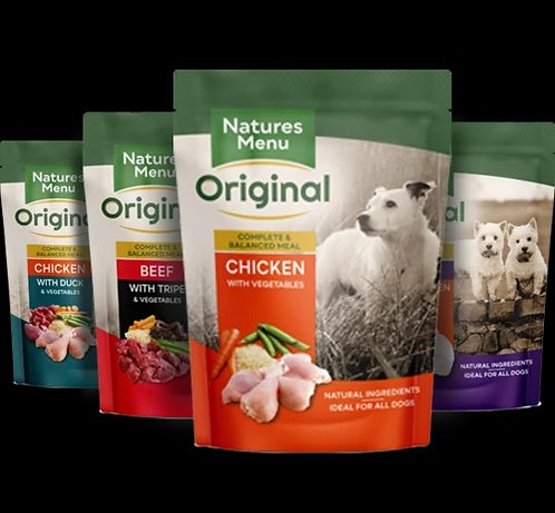 Natures Menu Mixed Pouches for Dogs 8 x 300g kids