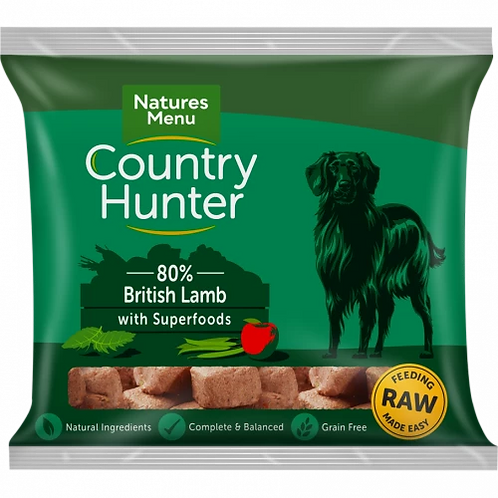 Natures Menu Country Hunter Raw Superfood Nuggets British Lamb