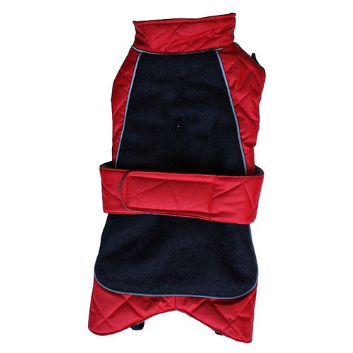 Go Walk Quilted Thermal Dog Coat Red 16""