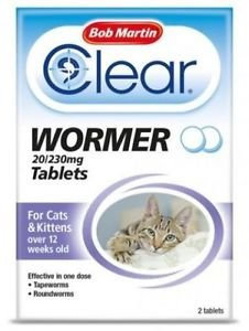 Bob Martin Clear Wormer for Cats & Kittens over 12 weeks old