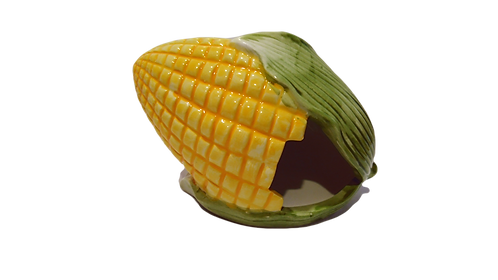 Small Animal Ceramic Corn Hideout by Hapypet Critters Choice