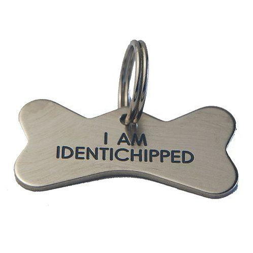 Silver Nicron Bone shaped Pet Tag