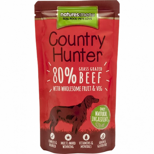 Nature Menu Country Hunter Grass Fed Beef  6x150g Pouches