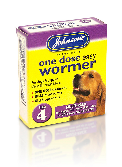 Johnson's One Dose Easy Wormer Size 4
