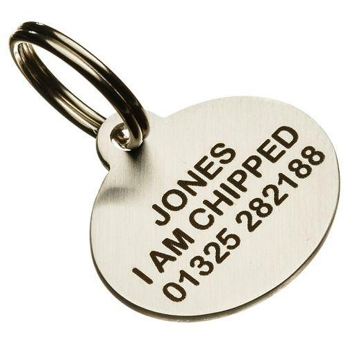Stainless Steel Oval Pet Tag