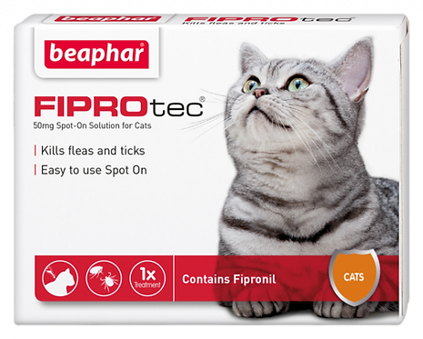 Beaphar FIPROtec® Flea Spot On Solution for Cats - 1 Treatment