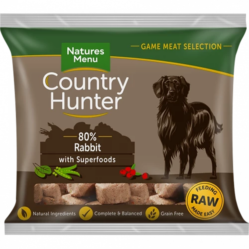 Natures Menu Country Hunter Raw Superfood Nuggets Full-Flavoured Rabbit