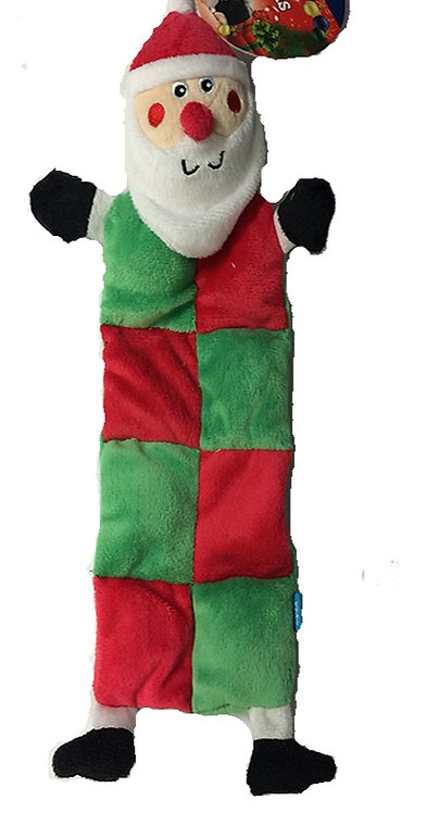 Ancol Christmas Patchwork Santa Dog toy