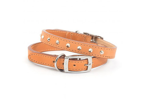 Ancol Heritage Leather Collar with Studs