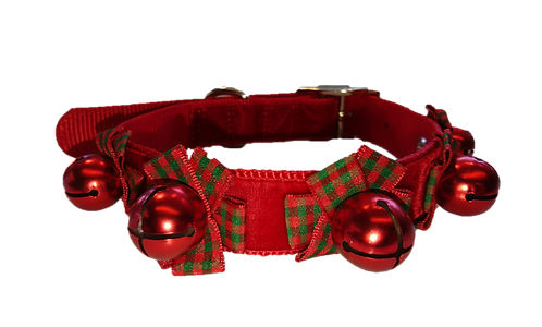 Ancol Christmas Party Dog Collar with Bells on