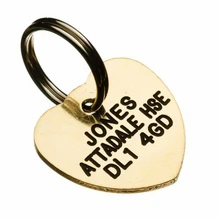 Brass Heart Shaped Pet Tag