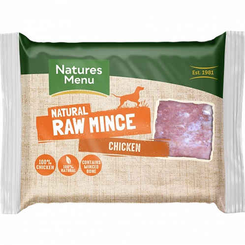 Natures Menu Raw Chicken Mince Portions
