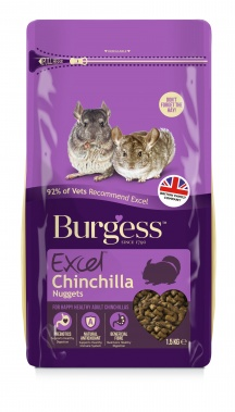 Burgess Excel Adult Chinchilla Nuggets with Mint 1.5kg