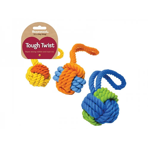 Rosewood Tough & Twist Rope & Ball tug toy