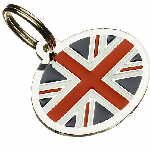Styled Oval Flag Pet Tag