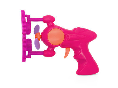 Bubble gun with Peanut Butter Bubbles for dogs