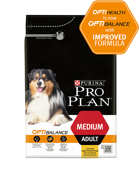 PURINA® PRO PLAN® DOG MEDIUM ADULT WITH OPTIBALANCE - RICH IN CHICKEN