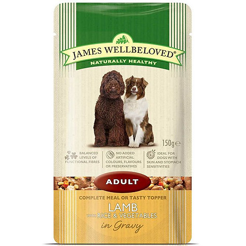 James Wellbeloved Adult Lamb in Gravy  Pouches