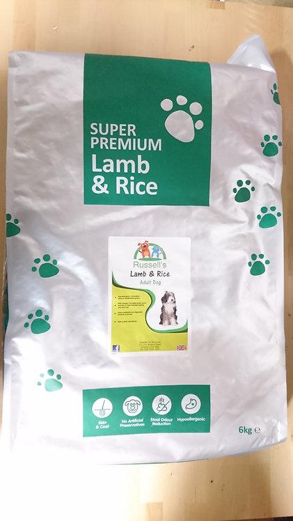 Russell's Lamb & Rice Super Premium Dog Food 6kg