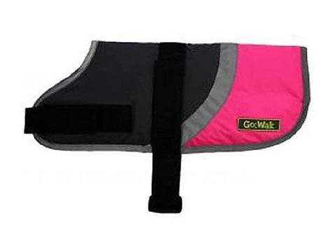 "Go-Walk Hi-Vis 10"" Pink Dog Coat by Hapypet"