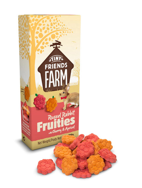 Tiny Farm Friends Russel Rabbit Fruities with cherry & apricot 80g