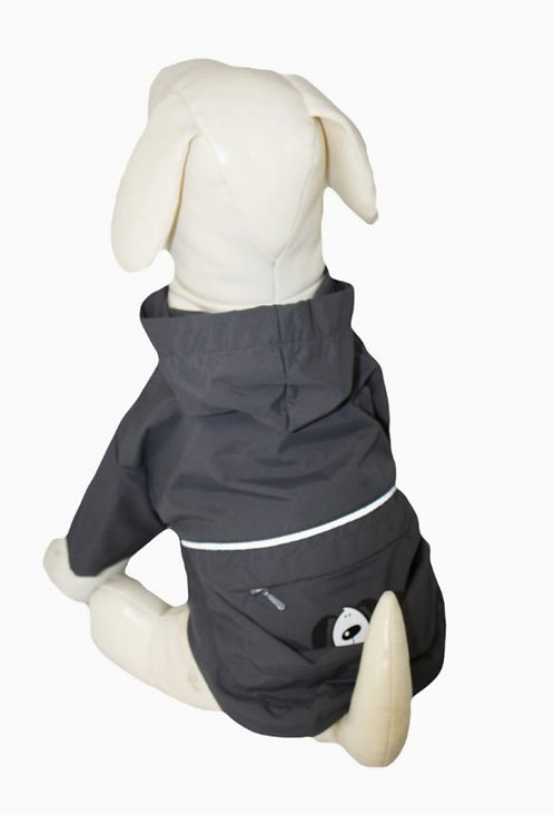 """Go-Walk 10"""" Charcoal Pac-A-Yap Dog Coat"""