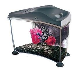 Marina Betta Fish Tank Aquarium Kit Graphite, 7L