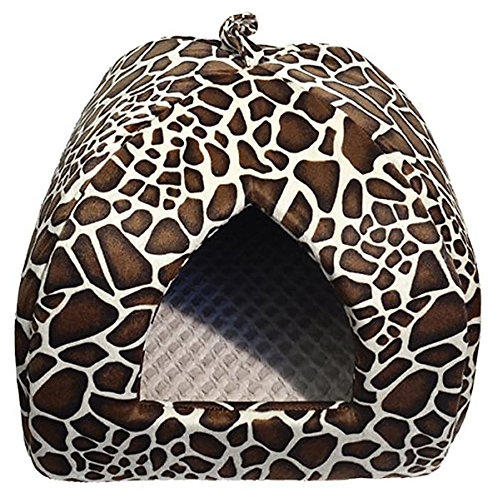 Rosewood Leopard print Cat bed