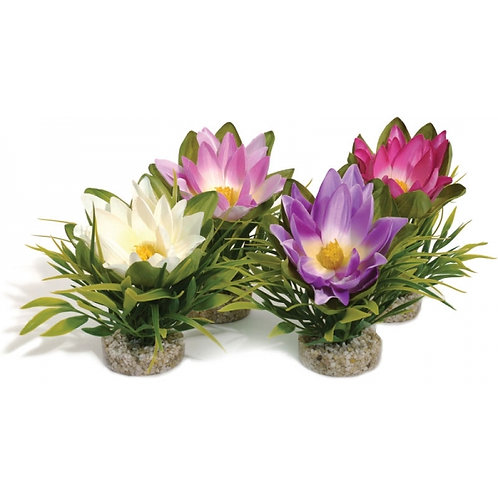 Lotus Flower Fish Tank Decor by Sydeco