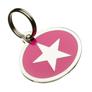 Star Styled Oval Pet Tag