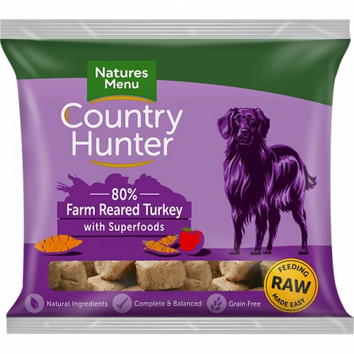Natures Menu Country Hunter Raw Superfood Nuggets Wild Venison