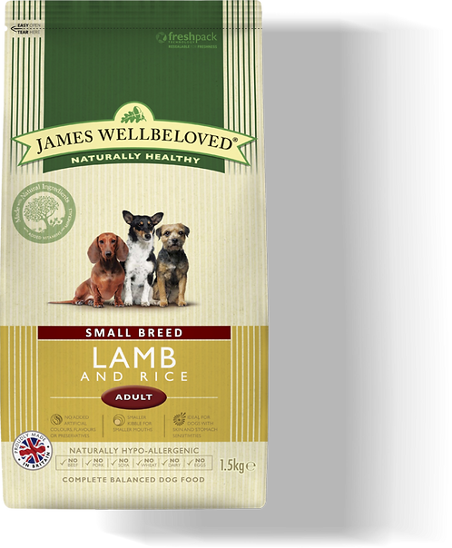 James Wellbeloved Small Breed Lamb & Rice 1.5kg
