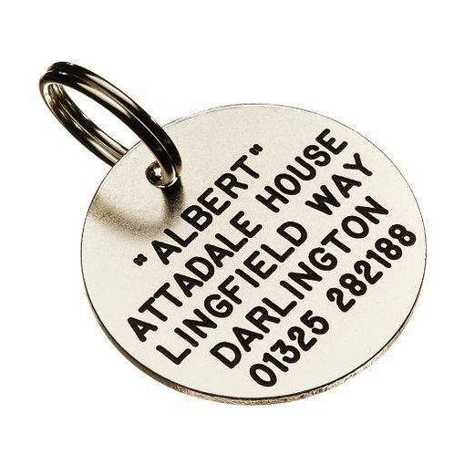 Silver Nicron Circular Pet Tag