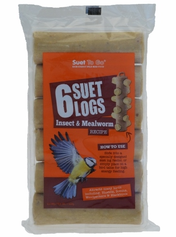 Suet To Go® Insect & Mealworm Suet Logs 540g