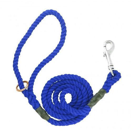 8mm x 39 inch Blue Gun Dog Lead with Trigger Hook