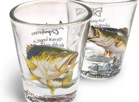 Largemouth Bass Shot Glass set of 2