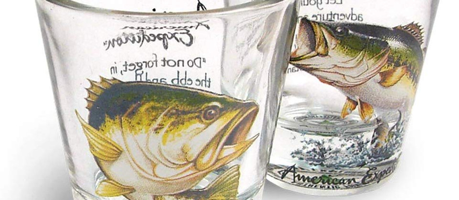 Largemouth Bass Shot Glass set of 2